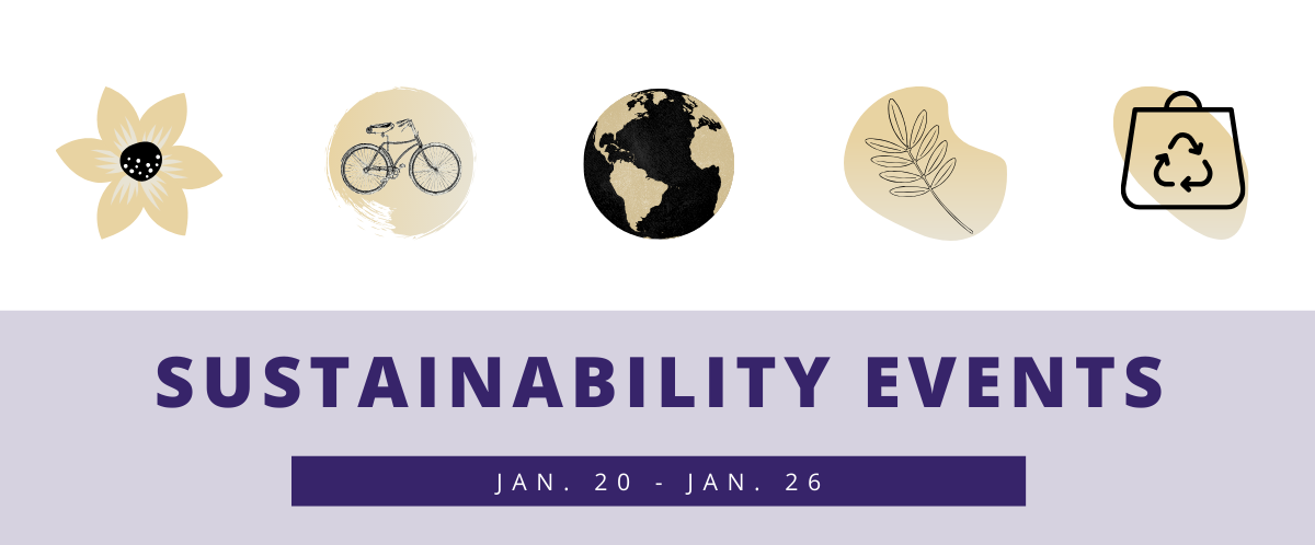 Sustainability events for Jan. 20-26