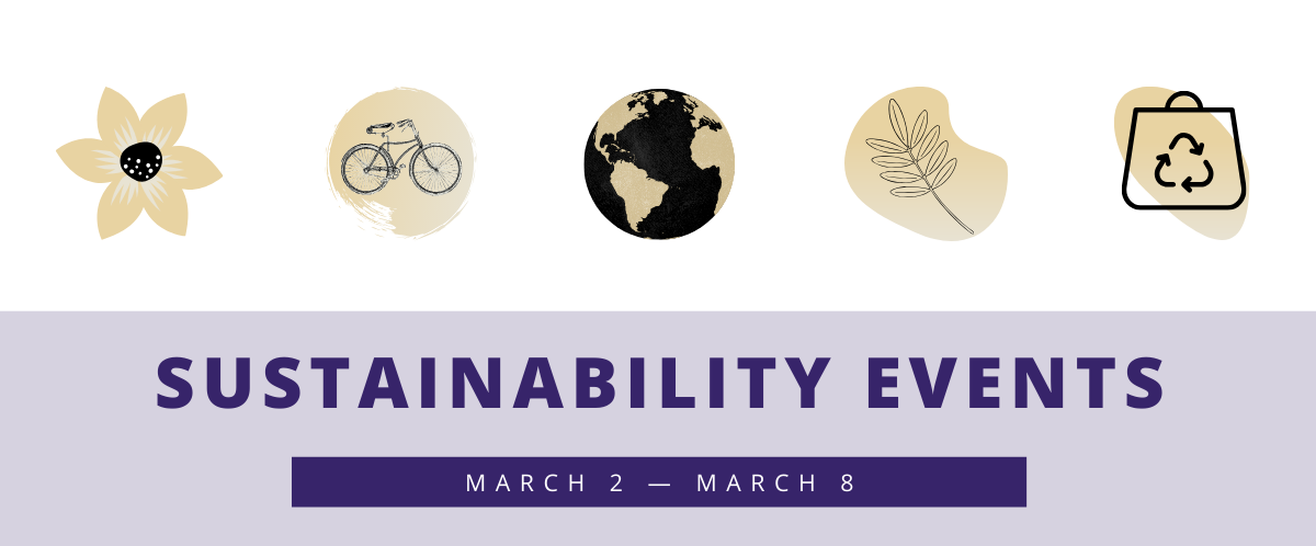 Weekly sustainability events March 2-9