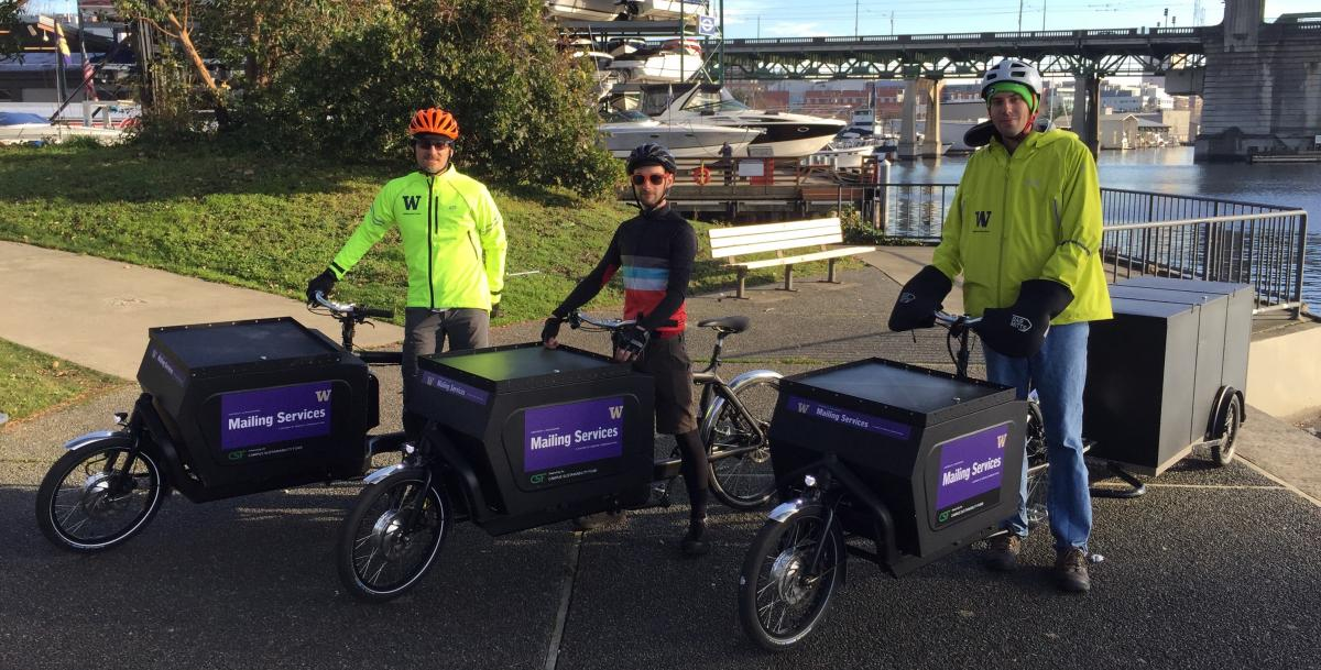 Mailing Services electric-assist cargo bikes