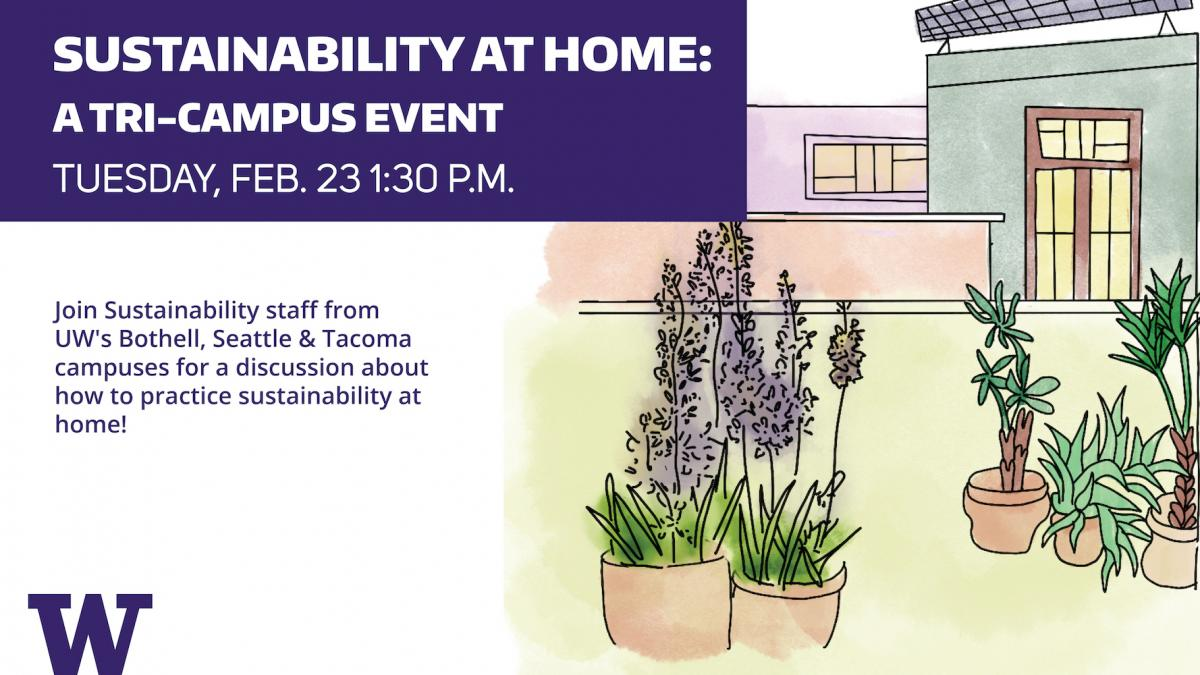 Sustainability at Home event flyer