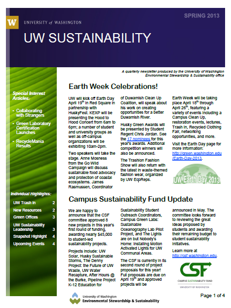 Our Services | UW Sustainability