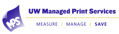 University of Washington Managed Print Services Logo