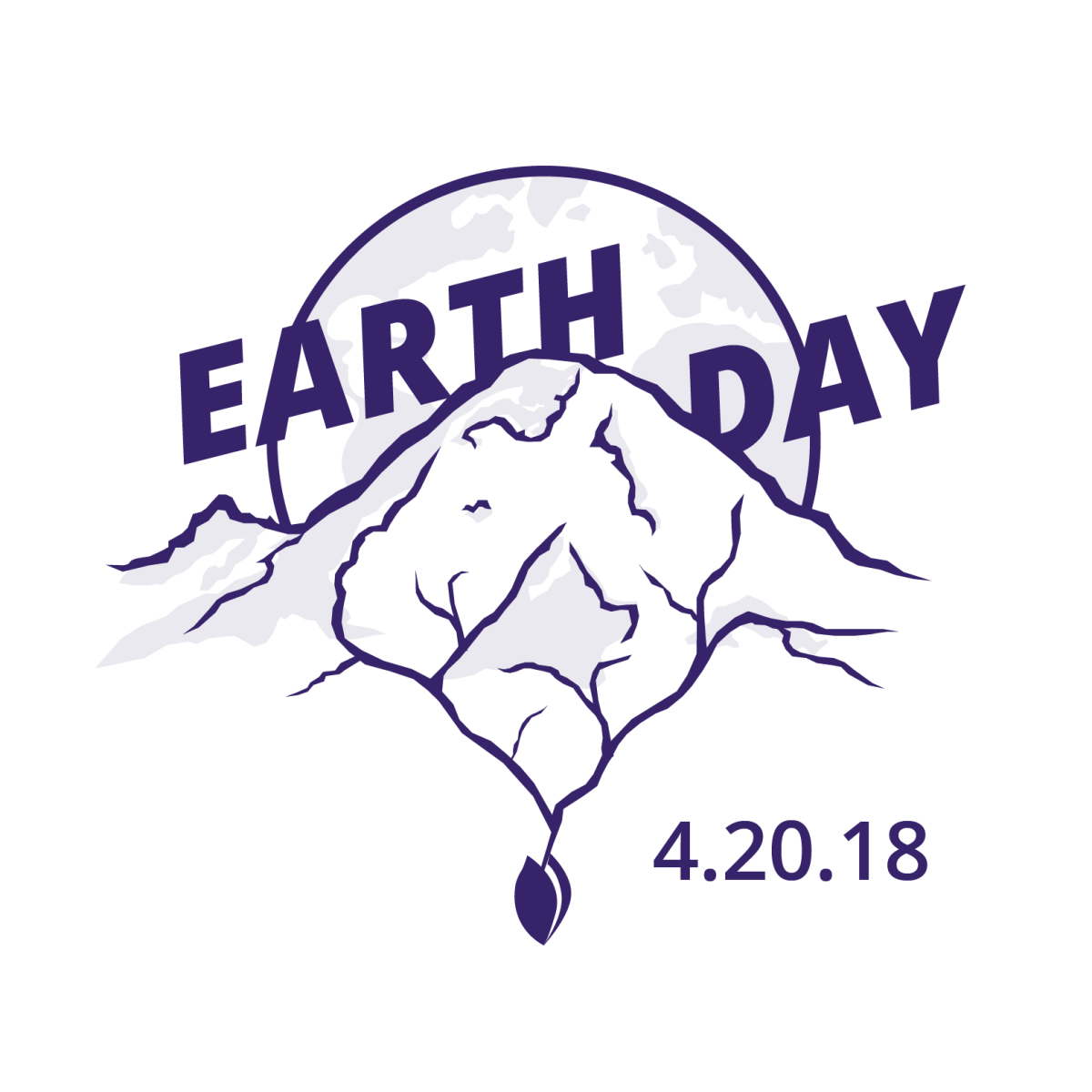 2018 Earth Day logo with date