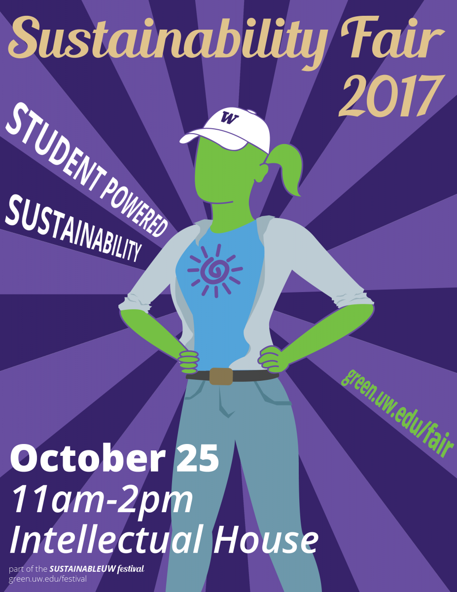Sustainability Fair poster - woman