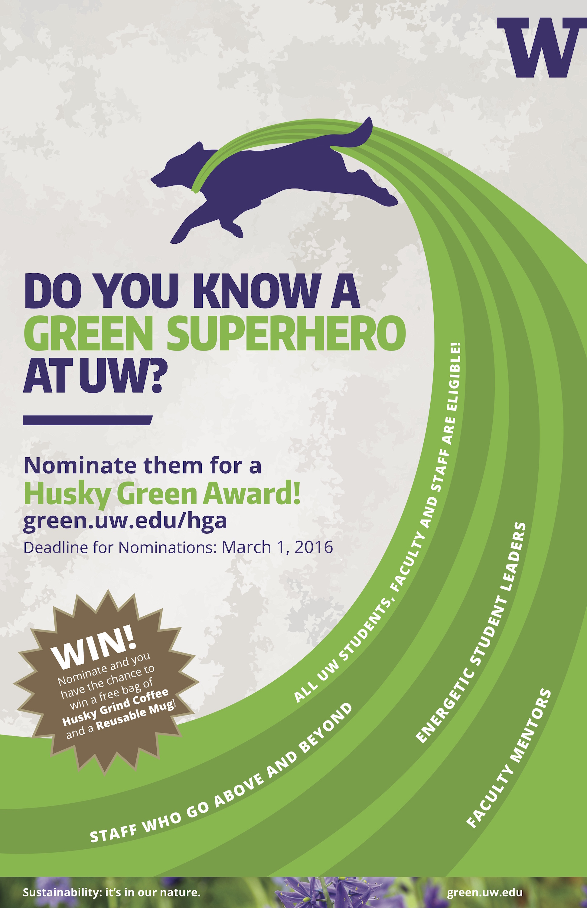 How Do You Design Home For Someone With >> Husky Green Award nominations are open | UW Sustainability