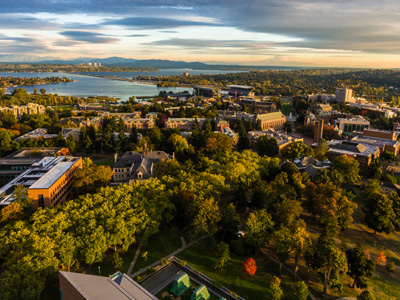aerial view of Seattle campus