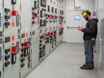 Electrical switch room