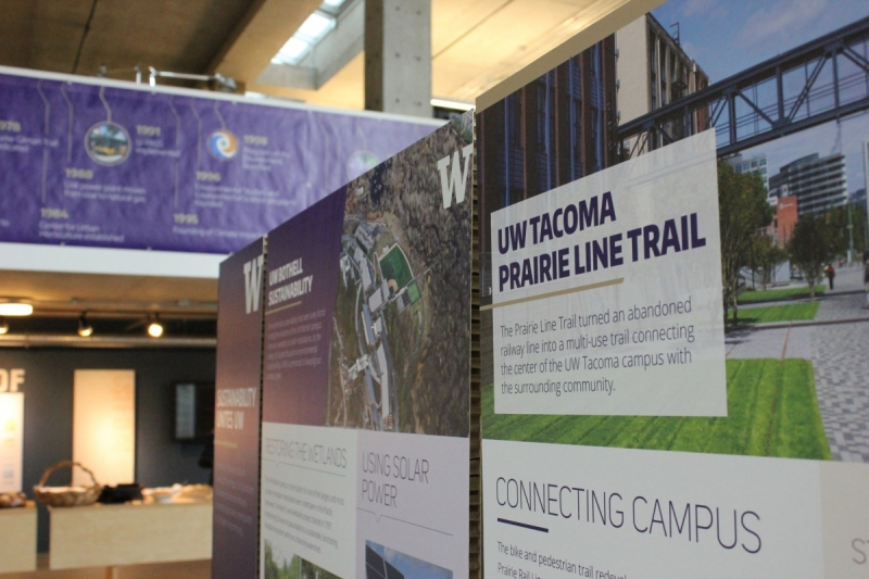 Posters on UW Bothell and Tacoma sustainability efforts